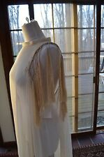 Ann Demeulemeester beige braided dress tunic coverup  100% SILK $1316