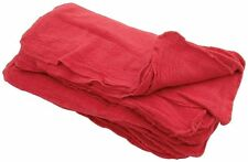 """1000 INDUSTRIAL SHOP RAGS / CLEANING TOWELS RED LARGE 14""""x13"""" COMMERCIAL TOWELS"""