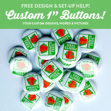 """10 Custom 1"""" inch buttons badge pin punk bands indie pins round pinback"""