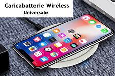 Caricabatterie Wireless Veloce Bianco 10W Slim QI 5V 2A 9V 1,3A Super Veloce