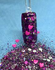Glitter Mix Nail Art Acrylic Gel  THINKIN' PINK limited edition