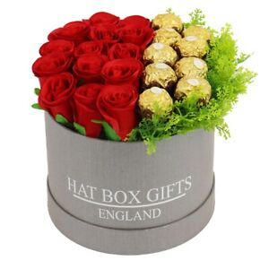Hat Box with Ferrero & Red Roses