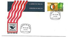 Malta ( New Emblem of Malta ) 1989 on First Day Cover