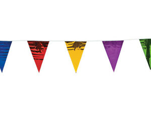 SALE - 33m (100') Metallic Foil Party Bunting - Indoors & Outdoors