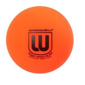 Winnwell Street Hockey Ball, Medium Orange Low Bounce Roller Hockey Ball