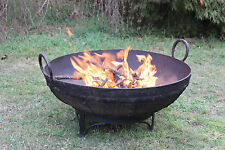 Fire Pit Bowl Fireplace Wood Heater Genuine Old Indian Cooking Pot 65-74cm