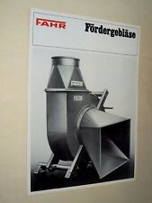 Brochure Tracteur FAHR FORDERGEBLASE   traktor tractor  prospekt prospectus