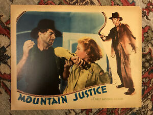 "Mountain Justice 1937 First National 11x14"" lobby card Josephine Hutchinson"
