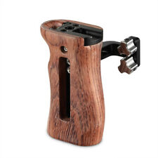 SmallRig 2093 DSLR Camera Wooden Side Handle Grip with cold shoe for Cage