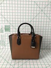 Michael Kors Carolyn Small Satchel Brown Signature Luggage Leather Crossbody