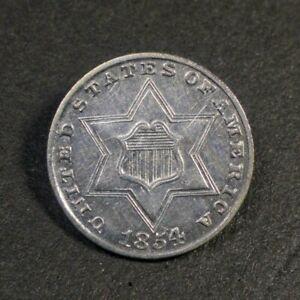 1854 Three Cent Silver 3CS