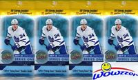(4) 2017/18 Upper Deck Series 1 Hockey Factory Sealed Jumbo FAT PACKS-128 Cards!