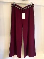 Whistles cashmere wool Knit Culottes burgundy BNWT rrp £140 lounge pant trousers