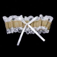 Jute Burlap Accessories Leg Ring Wedding Garter Tossing Garters Bridal Garter