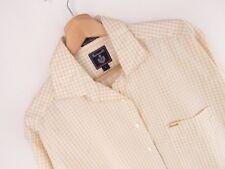 NV105 FACONNABLE Camisa Top Original Premium de Cuadros Amarillo Vintage