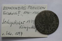 GERMANY BRANDENBURG 6 GROSCHEN 1772 B12 #W349