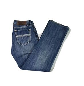 Rock & Roll Cowboy Denim Mens Double Barrel Straight Relaxed Fit Size 34x34