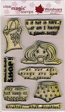 Woodware - Clear Magic Acrylic Stamps - Wrinkle....What Wrinkles? - JGCL545