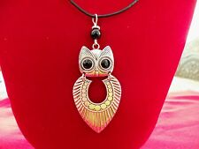 OWL NECKLACE Wizard Harry ONYX Bird Pendant NEW ~ HANDMADE ~ Ships FREE to USA
