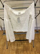 River Island Beautiful Lace Gypsy Top Flare Sleeves Size UK 8 Vintage Style BNWT