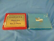 2 Card games Canasta deck with rules & regular playing cats guitar dancer art