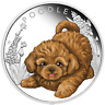 2018 Puppies - POODLE Tuvalu 1/2 oz Silver Proof Half Dollar Coin Colorized