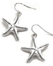 E2 Silvertoned Starfish Ocean Beach EARRINGS NWT