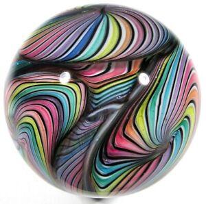 "Hot House Glass  ""Rerun"" marble 1.76"" 45mm #347"