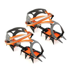 14-point Manganese Steel Climbing Gear Crampons Ice Grippers Crampon B1J5