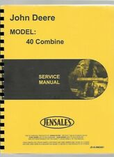 John Deere 40 Combine Service Repair Manual sm2061
