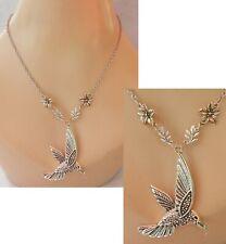 Hummingbird Necklace Silver Pendant Jewelry Handmade NEW Bird Chain Women