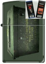 Zippo 221 Ammo Crate Can Lighter with *FLINT & WICK GIFT SET*
