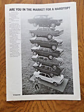 1972 Volvo Ad Are You in the Market for a Hardtop? Shows 7 Models