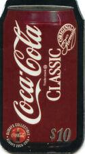 Coca-Cola '96 $10 Die-Cut Aluminum Can Phone Cards Set of 3