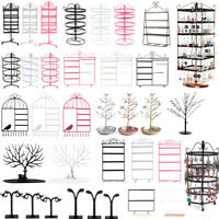 128/144 Holes Earring Jewelry Necklace Display Rack Metal Stand Holder Organizer