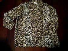"Ladies National Leopard Animal Print Blouse 29 1/2"" L 23 1/2"" Armpit To Armpit"