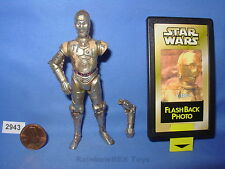 """Star Wars 1999 C-3PO w/ Removeable Arm & Flashback Photo 3.75""""  COMPLETE Fig. #2"""
