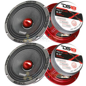 "4 DS18 PRO-X6.4BM 2400W Max 6.5"" Midrange Speakers Loudspeaker With Bullet 4 Ohm"