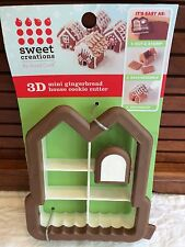 NEW Gingerbread House Cookie Cutter Mini 3D Christmas Sweet Creations