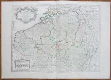 De L´Isle: Large Map of Belgium Netherlands France Flandria Luxemburg - 1702