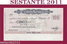 CREDITO ARTIGIANO, LIRE 100 5.5. 1977, STAR STABILIMENTO ALIMENTARE  , FDS, B44