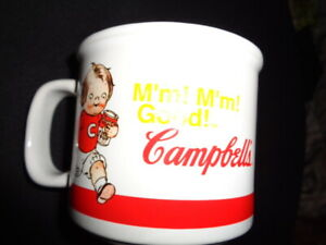 Campbell's Soup Ceramic Mug- Boys With Tomato Soup Can- 2004