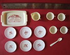 vtg 1960s Barbie Doll Plastic Serving TOY DISHES TRAY CUPS-FIELDS OF THE WOOD NC