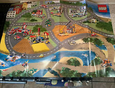 Large Vintage Lego City Road Map Wall Posters Ltd Edt A1- 87cm Wide SUPER RARE