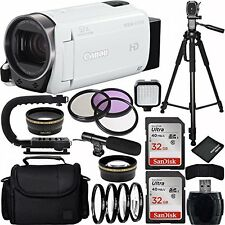 Canon VIXIA HF R700 Full HD Camcorder (White) MEGA BUNDLE ~ USA Model