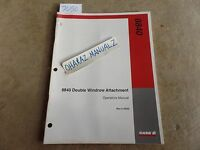 CASE 8840 Double Windrower Attatchment Operator's Manual 9-16002