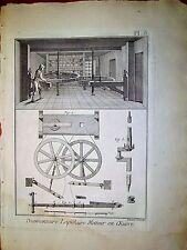91-3-1L Gravure 1783 Panckoucke diamantaire lapidaire metteur en oeuvre