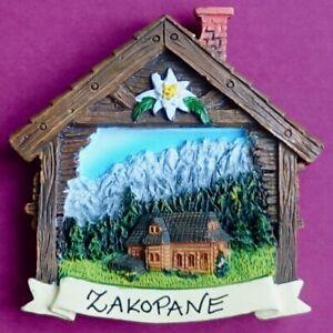Souvenir Fridge Magnet Zakopane Tatra Mountains Scene Poland