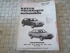 REVUE TECHNIQUE GOLF GTi 16S et JETTA GT - GTX - 16S Depuis 1984