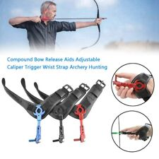 New listing Compound Bow Release Aids Adjustable Caliper Trigger Wrist Archery Hunting YU
